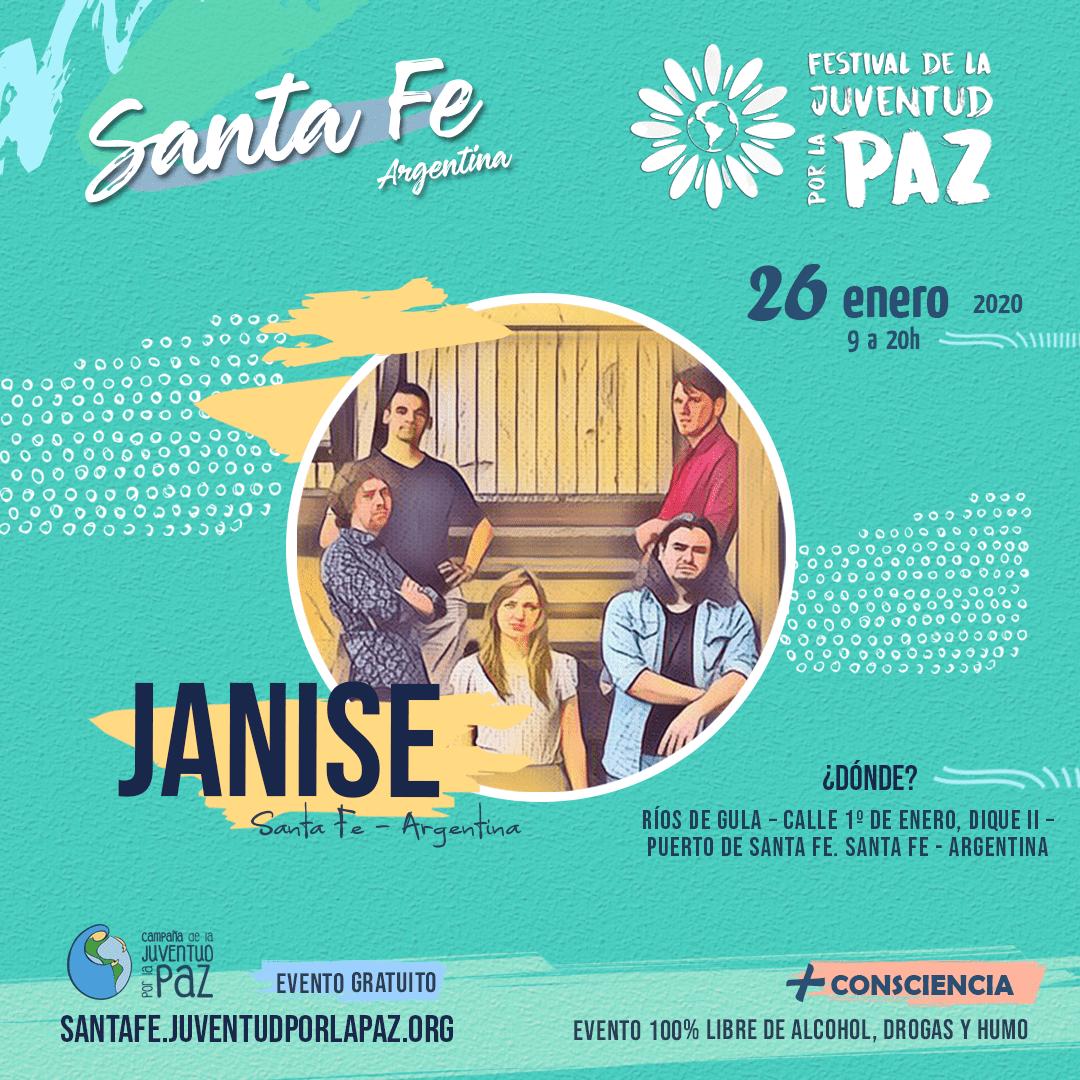 Festival da Juventude pela Paz Janise Santa Fe